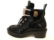 Auth BALENCIAGA Black Leather Womens Boots #35 US#4.5