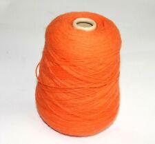 420g inc cone Orange wool yarn Mandarin 980 machine Knitting Crochet Weaving
