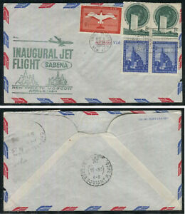 Event Cover:  SABENA INAUGURAL JET FLIGHT - New York to Moscow, April 6, 1960