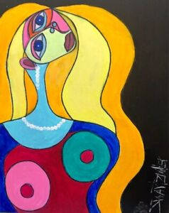 PICASSO NUDE PAINTING original SWARTZMILLER DNA SIGNED large 16X20 canvas Art
