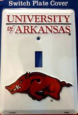 """UNIVERSITY OF ARKANSAS METAL SINGLE LIGHT SWITCH COVER PLATE """"NEW"""" FREE SHIPPING"""