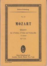 String Quintet K. 516 in g minor. Miniature Score : Wolfgang Amadeus Mozart