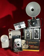 New ListingLot of 6 Antique / Vintage Cameras Kodak, Polaroid, Ansco