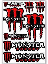 8 Monster Red Motorcycle Auto Car Bike Skate Stickers Vinyl Sport MTB ATV D 75