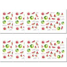 8 Sheets LEMOOC Nail Art Water Decal Fruit Watermelon Transfer Stickers