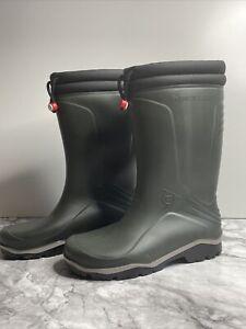 Dunlop Blizzard Mens Fleece Lined Black Waterproof Thermal Wellies Size Uk 10