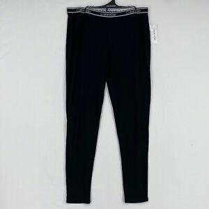 Calvin Klein Sleepwear Womens Large Pajama Pants Black Logo Waist Band Bamboo