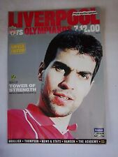 Orig.PRG   UEFA Cup  2000/01   FC LIVERPOOL - OLYMPIAKOS PIRÄUS  !!  SELTEN