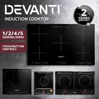 Devanti Electric Induction Cooktop Portable Kitchen Cooker Ceramic Cook Top