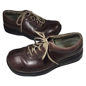 MERRELL World Summit Men's 10.5 US Brown Leather Dress Casual Lace Up Shoes