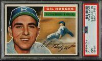 1956 Topps #145 GIL HODGES Card - HOF? - Dodgers - PSA 7 - NMT - 44275685 - SCA