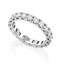 Love Eternity Ring Natural Round Diamonds 2.2Ct 14k White Gold Wedding Birthday