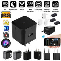 HD Wifi 1080P Cam Hidden Camera USB Wall Charger Adapter Plug USB DVR Security