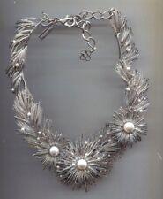 Oscar De La Renta Silver Flower Necklace Usa