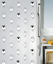 Spirella ovejas Diseño, lana de plástico de la Cortina de Ducha PEVA opaco, 180cm X 200 Cm