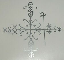 Voudou vodun voodoo Papa Legba magic veve silver vinyl decal sticker