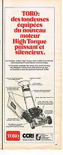 PUBLICITE ADVERTISING 014   1974   TORO   CCRI   tondeuse