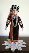 OOAK Porcelain Thai Lahu Hill Tribe Standing Doll of Northern Thailand (New)  AA