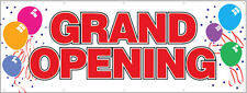 Grand Opening Vinyl Banner 3x10 ft Sign New - rw