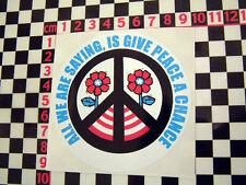 Peace Sticker - Citroen 2CV Dyane 2 CV 2CV6 Beetle VW Camper Beatles Lennon