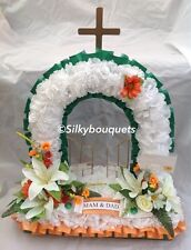 Artificial Silk Funeral Flowers Fathers Day Gates of Heaven Tribute Memorial Dad