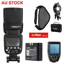 AU Godox V860II-N 2.4G Flash Speedlite + Xpro-N Trigger for Nikon+80*80 Softbox