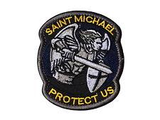 Patch Saint Michael Protect Us - Schutzpatron Aufnäher Flicken Abzeichen Klett