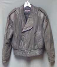 Wilsons Leather Waist Jacket (Fully Lined) Men's Size Small Padded Shoulders
