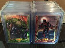 2014 UD Marvel Premier SUPER RARE COMPLTE GOLD Base Set 60 Cards /25 IMPOSSIBLE!