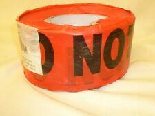"""Grainger In962 Red """"Danger Do Not Enter"""" Barricade Tape 1000 Ft Crushed Caution"""