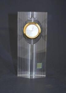 VINTAGE BULOVA QUARTZ HOYA CRYSTAL TOWER CLOCK WITH STICKER~# Y481-0880