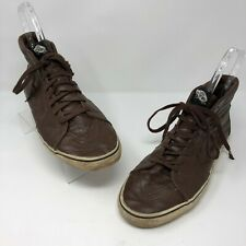 Vans 12 Off The Wall Sneaker Shoes High Top  Brown Lace Up Skateboarding