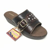 Women's NEW Durango Stone Sandals Shoes Size 8M Brown Leather Gem Embellished K9
