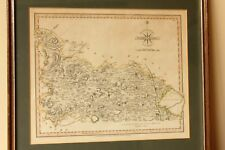 Framed Antique Map of Yorkhire J. Cary 1809. Old Skipton Bolton Wetherby Ripon.