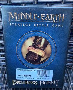 Games Workshop Lord of the Rings Uruk Hai Scouts 8 Figures NIB Metal LoTR OOP GW