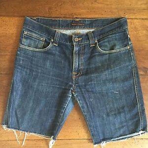 Nudie Mens Denim Shorts Size 32