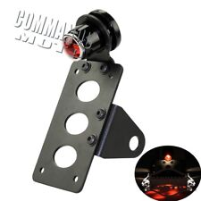 Motorcycle Side Mount Tail Light License Plate Bracket For Harley Chopper Bobber