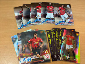 Manchester United x 3 Sets Topps Match Attax & 2018 Chrome - Read Details