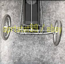 Front Engine Dragster - Front Chassis and Wheels - Vintage Drag Racing Negative
