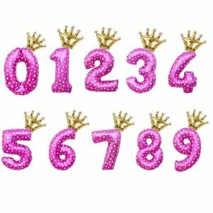 Number Foil Balloons 2pcs Kids Birthday Party Decorations Supplies Accessories