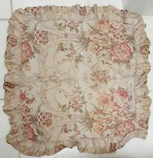 Ralph Lauren Guinevere Euro Pillow Sham Cover Floral Ruffled French Country