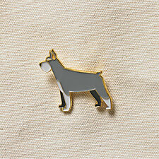 Pins Jewelery Enamel Gold plated finish Schnauzer Pet Dogs Pin Badge Brooch