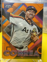 Carlos Correa 2020 Topps Fire #32 Orange Parallel 255/299 HOUSTON ASTROS