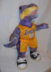 "Build A Bear Dinosaur  19"" T Rex Plush Stuffed BABW L A Lakers Uniform Sneakers"