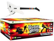 XBOX 360 GUITAR HERO World Tour Band Kit Guitar+ Wireless Drums + Microphone