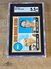 1968 Topps Baseball SGC 5.5 Johnny Bench Rookie Card HOF