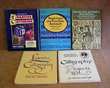5 PB Instructional Books~2 On Calligraphy by Margaret Shepherd & 3 On Lettering