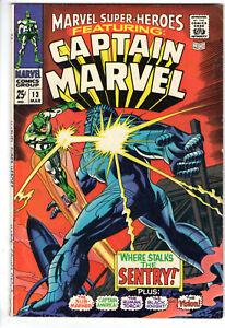 MARVEL SUPER-HEROES #13 (1968) - GRADE 5.0 - 1ST APPEARANCE CAROL DANVERS!