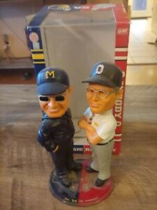 Woody Hayes Bo Schembechler Bobble Heads Rare Ohio State Michigan With box