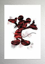 Mickey Mouse - Disney Art - Splash Effect - A4 Size